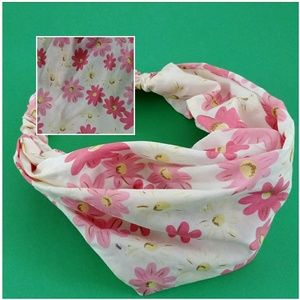 Accessories - HEADBAND BANDANA WRAP HAIR BAND ELASTIC FLORAL